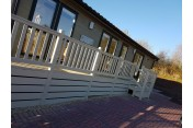 Pemberton Rivendale 40x20 with decking on 12 month holiday plot at Lakeside Country Park